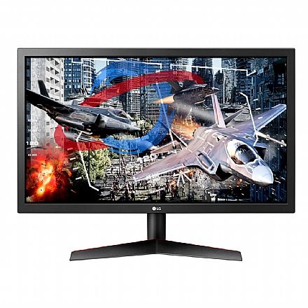 "Monitor 24"" LG Gamer 24GL600F - LED Full HD - 1ms - 144Hz - FreeSync - HDMI/DisplayPort"