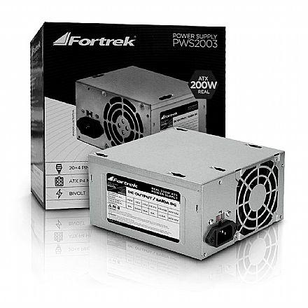 Fonte 200W Fortrek - ATX - Sem Cabo - PWS-2003