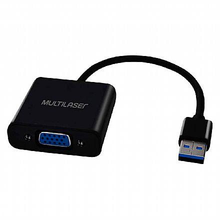 Adaptador Conversor USB para VGA - Multilaser WI348