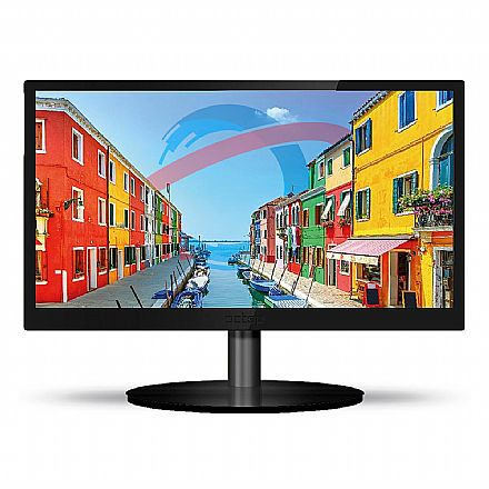 "Monitor 23.6"" PCTop Slim MLP236HDMI - LED - Full HD - 60Hz - 5ms - Furação Vesa - HDMI/VGA"