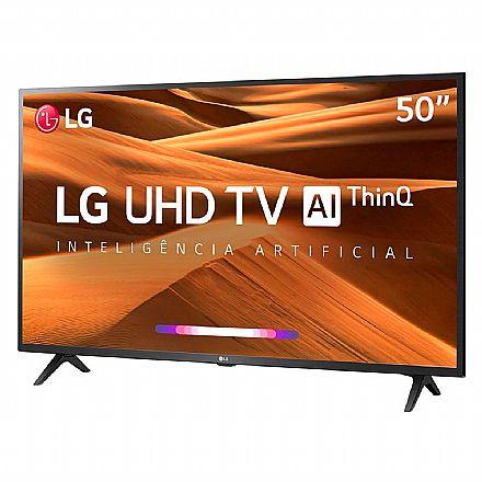 "TV 50"" LG 50UM7360 - Smart TV - Ultra HD 4K - HDR Ativo - Conversor Digital - Inteligência Artificial ThinQ - WebOS 4.5 - Wi-Fi e Bluetooth - HDMI/USB"