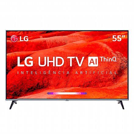 "TV 55"" LG 55UM7520 - Smart TV - Ultra HD 4K - HDR Ativo - Conversor Digital - Inteligência Artificial ThinQ - WebOS 4.5 - Wi-Fi e Bluetooth - HDMI/USB"