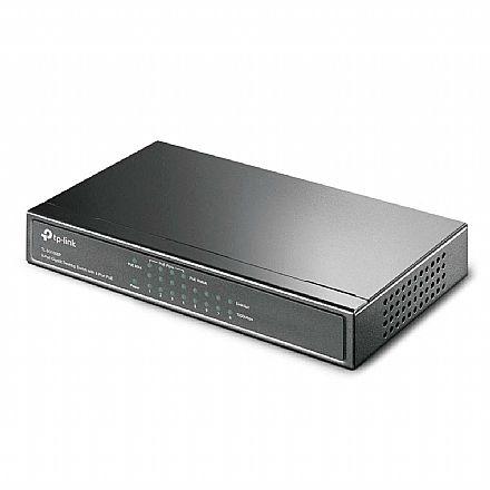 Switch 8 portas (4 Portas PoE) TP-Link TL-SG1008P - PoE - 10/100/1000Mbps