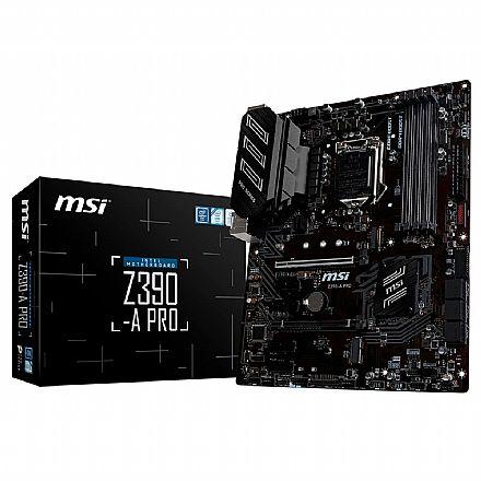 MSI Z390-A PRO (LGA 1151 - DDR4 4400 O.C) - Chipset Intel Z390 - 8ª e 9ª Geração - USB 3.1 Tipo C - Slot M.2 - ATX