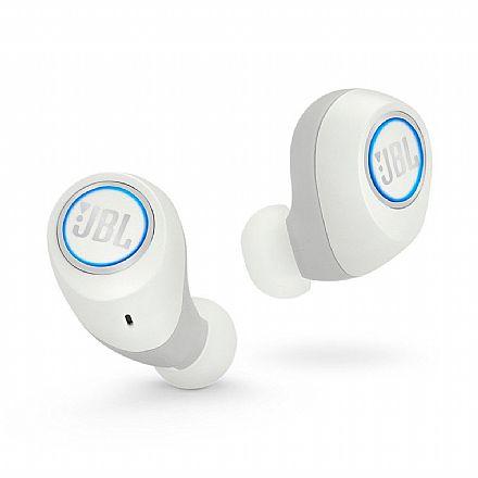 Fone de Ouvido Bluetooth Earbud JBL Free - com Microfone - com Case carregador - À prova de respingos - Branco - JBLFREEXWHTBT