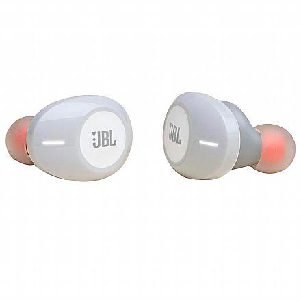 Fone de Ouvido Bluetooth Earbud JBL Tune - com Microfone - com Case carregador - Branco - JBLT120TWSWHT