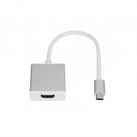 Cabo Adaptador Conversor USB-C para HDMI Fêmea