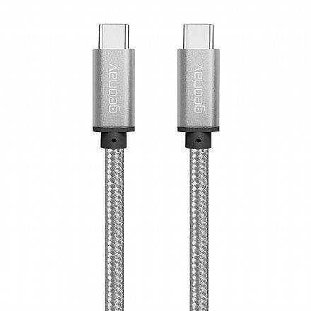 Cabo USB-C - 1 metro - Nylon Trançado - Preto - Geonav ESC06