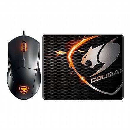 Kit Mouse e Mouse Pad Cougar Minos-XC - 4000dpi - Perfil LED - CGR-MINOS XC