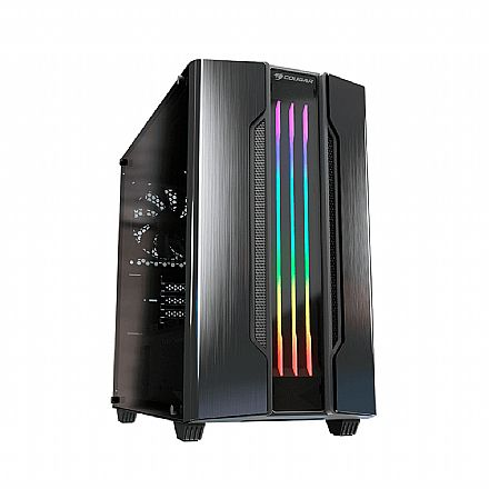 Gabinete Gamer Cougar Gemini M Iron Gray - Mini Tower - LED RGB - Janela Lateral em Vidro Temperado - 385TMB0.0001