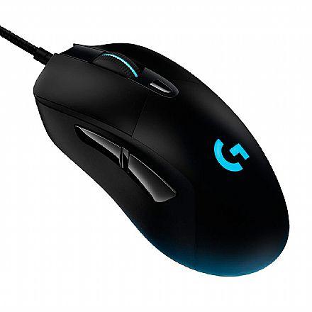 Mouse Gamer Logitech G403 Hero - 16000dpi - 6 Botões - Sensor Hero 16K - RGB Lightsync - 910-005631