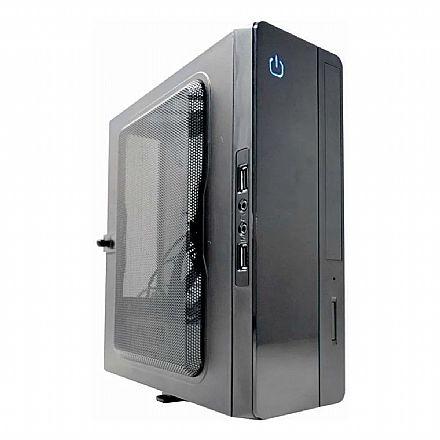 Gabinete K-Mex GI-10S1 - Mini ITX - com Fonte e Placa Conversora - entradas USB e Áudio