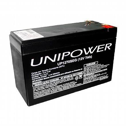Bateria Selada para Nobreak e Sistemas de Monitoramento e Segurança - 12V / 7Ah - Unipower UP1270SEG