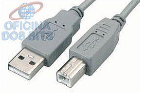 Cabo USB para Impressora - AM/BM - Versão 2.0 High Speed - 10 metros