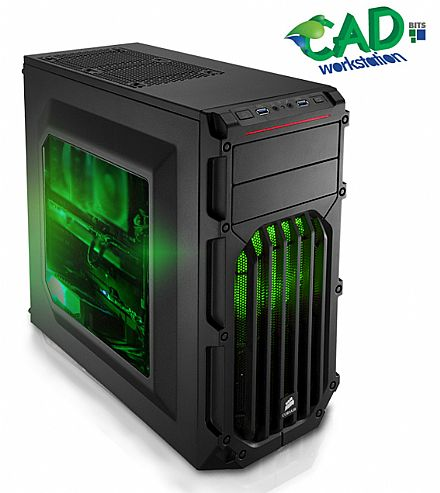 Computador WorkStation CAD Bits 3 - Intel® i3 8100, 8GB, HD 1TB + SSD 240GB, Nvidia Quadro P400 2GB