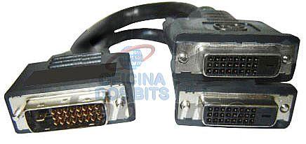 Cabo Y DVI - Liga 2 monitores / TV em 1 Saida DVI (DVI M X 2 DVI F)