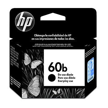 Cartucho HP 60 EveryDay Preto - CC636WB - Para HP Deskjet D1660 / D2530 / D2545 / D2560 / D2660 / F4280 / F4480 / Photosmart C4680 / C4780