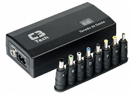 Fonte Universal para Notebook 120W C3 Tech NB-120 - 12V a 24V - com Carregador Veicular