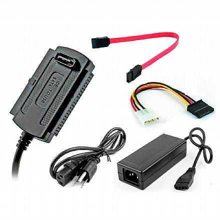 Cabo Conversor USB para SATA / IDE - Com Fonte de Alimentação