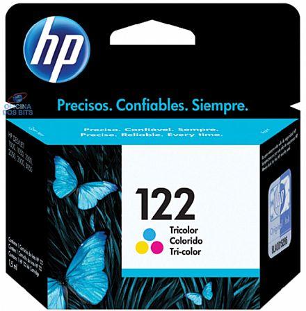 Cartucho HP 122 Colorido - CH562HB - Para Deskjet 1000, 2000, 2050, 3000, 3050