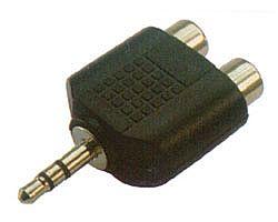 Adaptador de Audio P2 Stereo para 2 RCA - (P2 3,5mm Macho X 2 RCA Fêmea)
