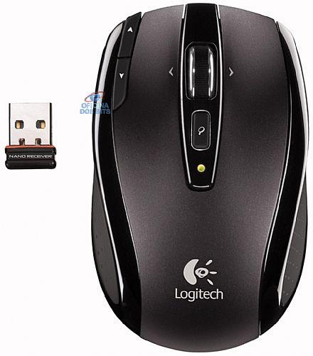 Mouse sem Fio Logitech VX Nano - USB - 910-000253