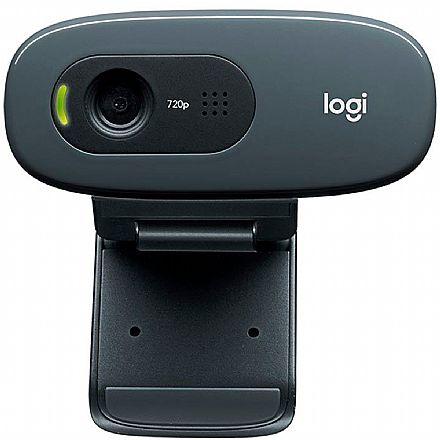 Web Câmera Logitech C270 3.0Mpixel - Videochamadas em HD 720p - com Microfone - 960-000694