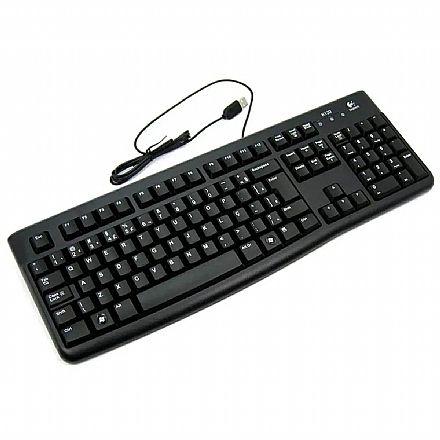 Teclado Logitech Desktop K120 - USB - ABNT2 - Preto - 920-002481