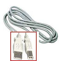 Cabo USB para Impressora - AM/BM - Versão 2.0 High Speed - 3 metros